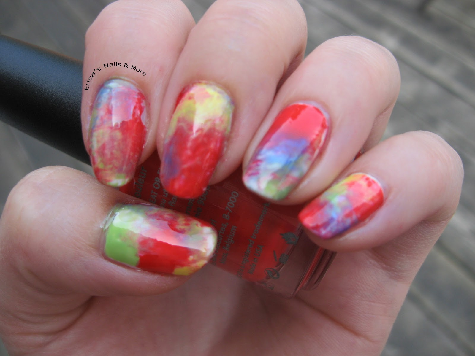 Notd Tie Dye Peace Nail Art Ericas Nails And More