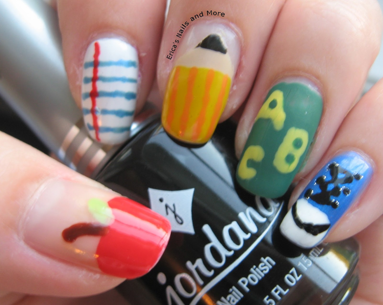Notd back to school nail art ericas nails and more notd back to school nail art prinsesfo Gallery