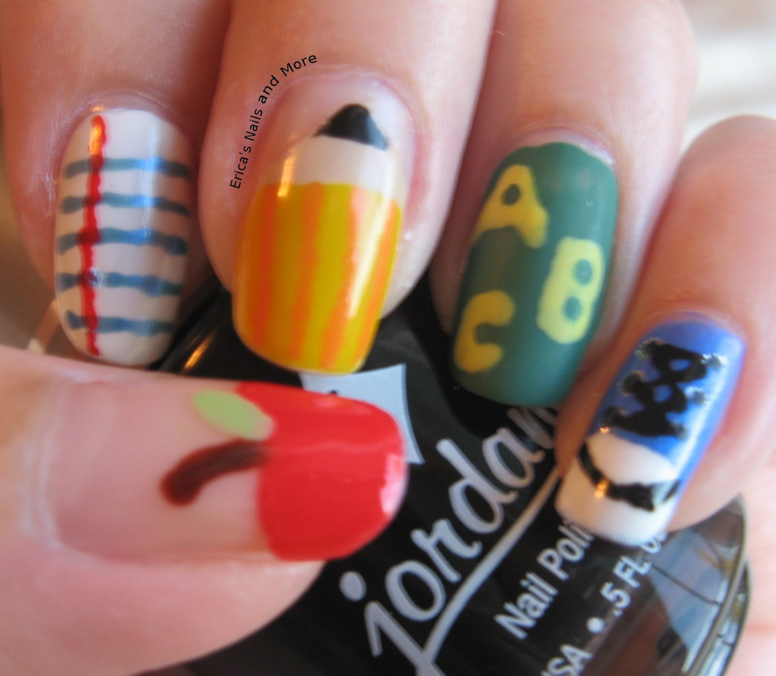 NOTD: Back to School Nail Art | Erica\'s Nails and More
